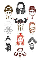 The Unwritten Lady Dwarves of Middle Earth by flaviarose