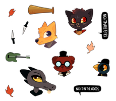 Night in the Woods Sticker Sheet by cometcrumbs