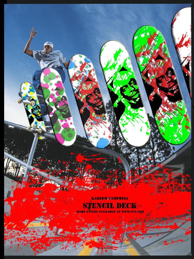 Kareem Campbell Skateboard Ad By Therealslink On Deviantart