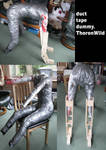 my new duct tape dummy by ThoronWild