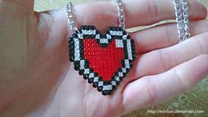 Pixel Heart Necklace by Echilon