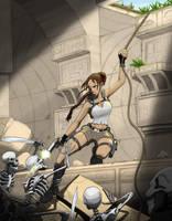 Lara temple climb by axemeagain