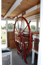 Paddle Steamer Steering Wheel by Lindalees