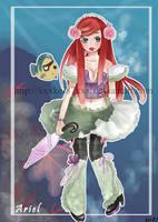 Disney's Ariel gothic lolita by xxxKei87xxx