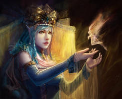 Princess of ice elf by fangogogo