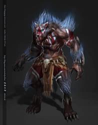 wolf man by fangogogo