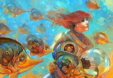 Gold Sea by juliedillon