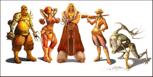 Character Designs by juliedillon