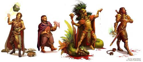 Characters - Dragon Magazine by juliedillon