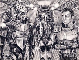 Garrus and Kaidan - No Excuses by efleck