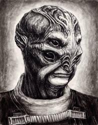 Batarian Portrait by efleck