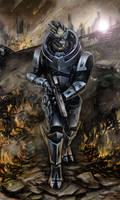 Garrus Vakarian - Wasteland by efleck