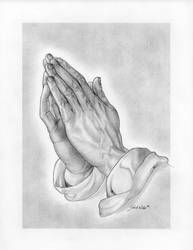 praying hands by powerman5thousand