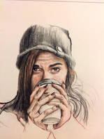 Coffee Drinker by rhyshaug