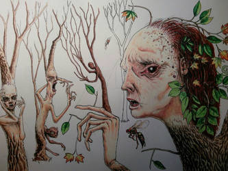 Work in progress fantasy drawing by rhyshaug