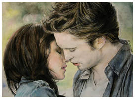 Bella + Edward by Anna-Mariaa