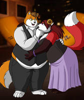 Fancy Night Out by PudgeyRedFox