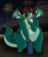 Dragon 4th by PudgeyRedFox