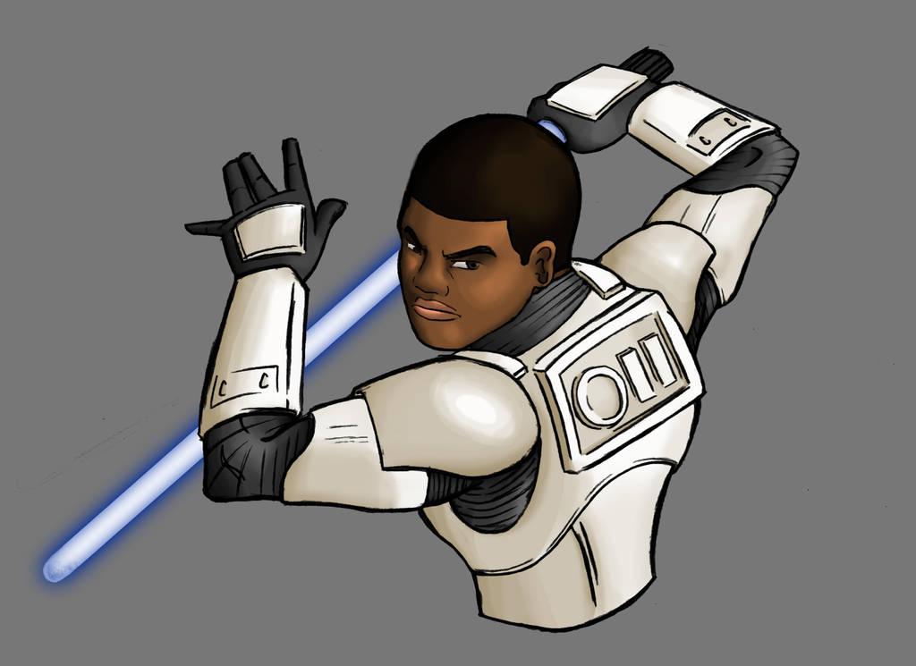 Finn - Star Wars Episode VII (7) The Force Awakens by evanattard
