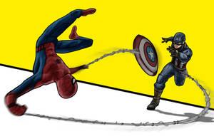 Spider-Man vs Captain America - Civil War by evanattard