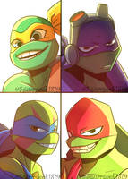 Four Square Tmnt Fanart by Sugargeek1819