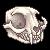 Pixel Cat Skull Facing Right by Asralore