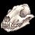 Dog Skull Facing Left by Asralore