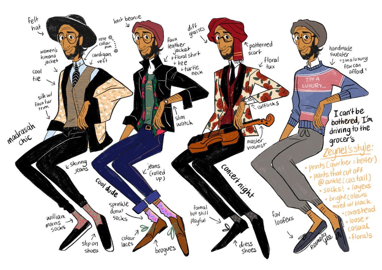 OC Fashion Guide: Zeynel by reimena