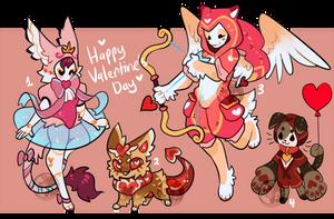 Maskcatz Vday Adopts (open) by onigiryStuff