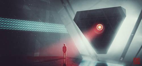 Facing the Digital God by Julian-Faylona