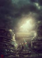 Post Apocalyptic Kuching (Town Center) by Julian-Faylona