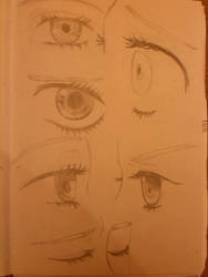 Anime Eyes Sketches 2 by LotusThePirate