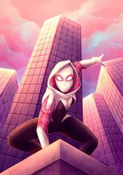 Spider-Gwen by Varjopihlaja