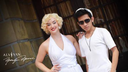 Alviyan and Marilyn Monroe by deviantalviyan