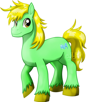 Speed Wave the pony by jotakaanimation