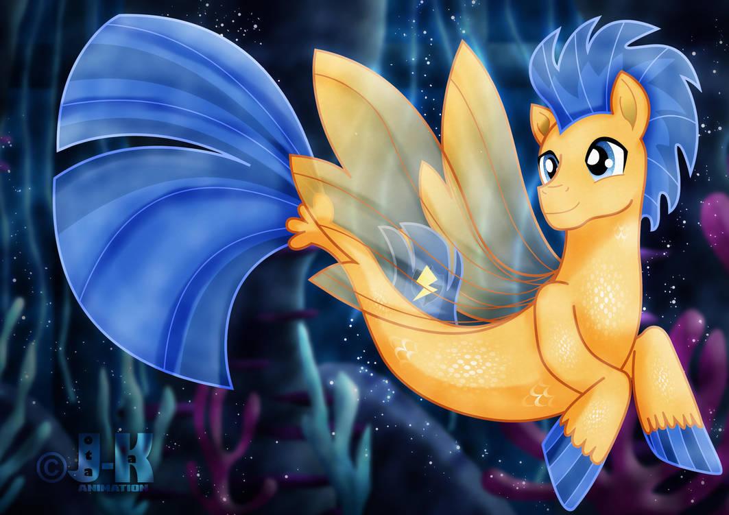 Flash Sentry_Sea Pony by jotakaanimation