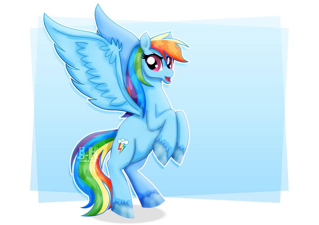 Rainbow Dash by jotakaanimation