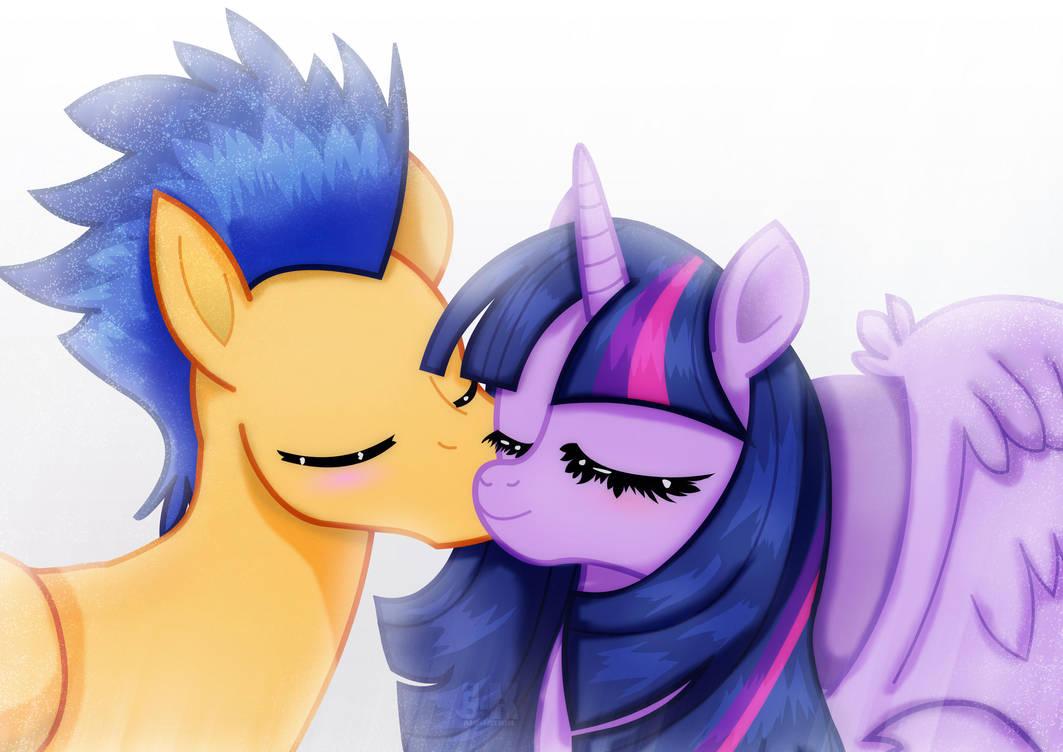 Flashlight_kissing the princess by jotakaanimation