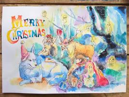 Princes Mononoke Merry Christmas by TingChieh