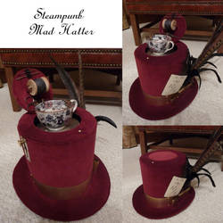 Steampunk Mad Hatter Hat by Challenger70TA
