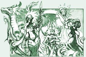 Gods + Elementals: Wild group by kiyo