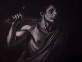 Charcoal Caravaggio by kentuski