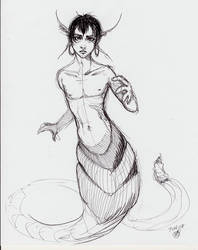 New Naga Sketch by kentuski