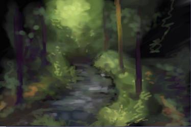 20 min landscape practice by kentuski