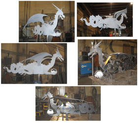 Steel Dragon WeatherVane by BROKENHILL