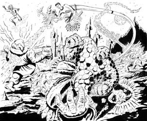 Fantastic four vs The Red Ghost and his super apes by BROKENHILL