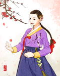Apricot Blossoms by Glimja