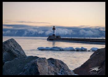Winter Lighthouse by Murphoto