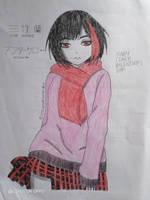 [BanG Dream!] Ran Mitake Lineart Colouring by MrLoncengKelinci