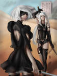 Nier Automata: 2B and A2 by Shirielle